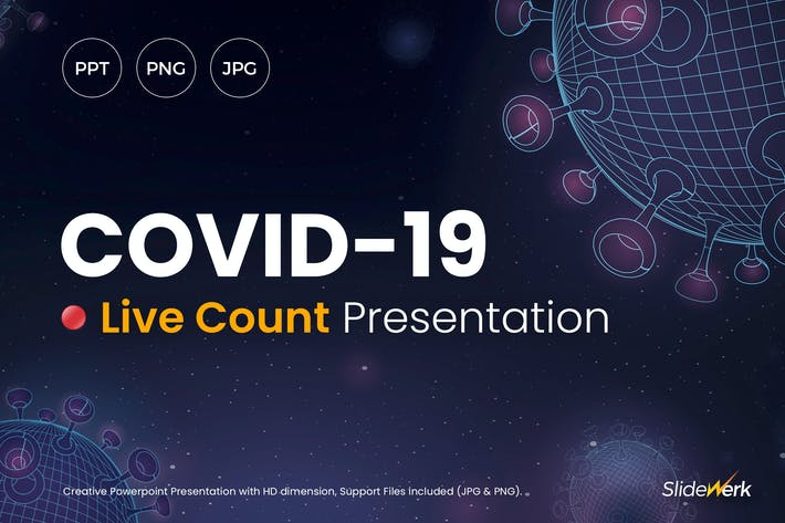 Thumbnail for COVID-19 Corona Virus Live Count Powerpoint