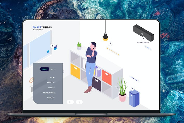 Thumbnail for Hero Header Smartthings Isometric Template
