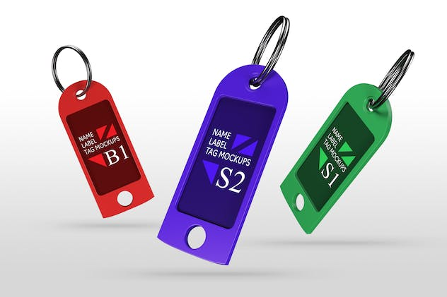 Name Label Tag Mockups