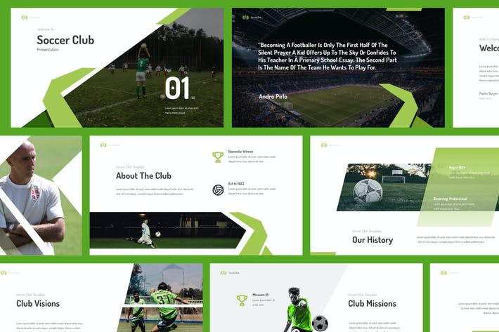 Thumbnail for Soccer Club Powerpoint Präsentation