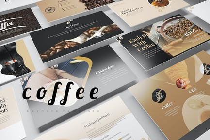 Шаблоны Keynote кофе