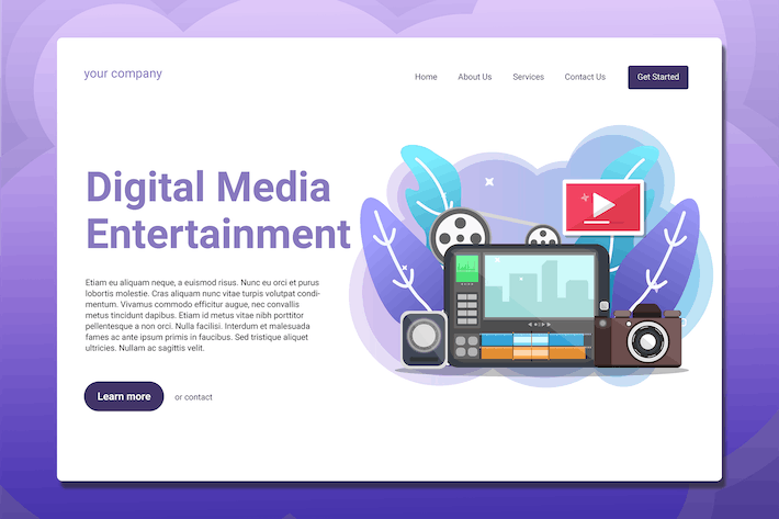 Thumbnail for Digital Media Entertainment - Landing Page