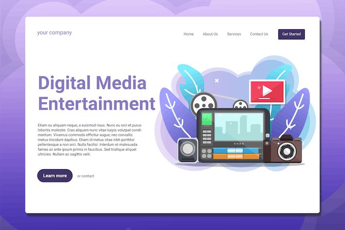 Digital Media Entertainment - Landing Page