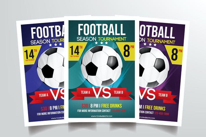 Thumbnail for Football Tournament Flyer Template