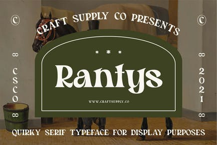 Rantys - Quirky Serif