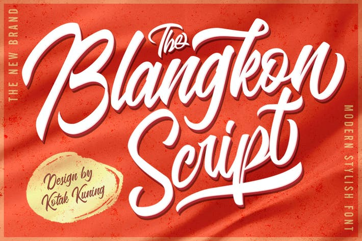 Thumbnail for Blangkon Casual Script Font