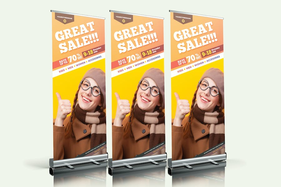 Fashion Sale Roll Up Banner