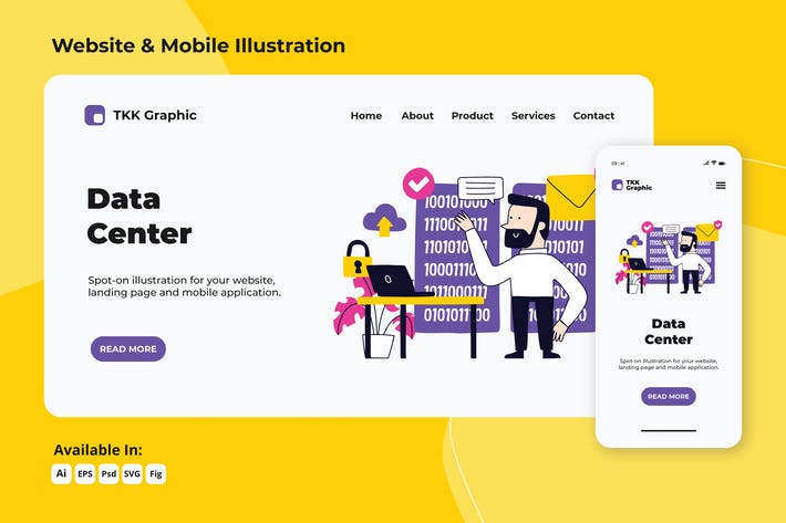 Thumbnail for Data Center web and mobile designs