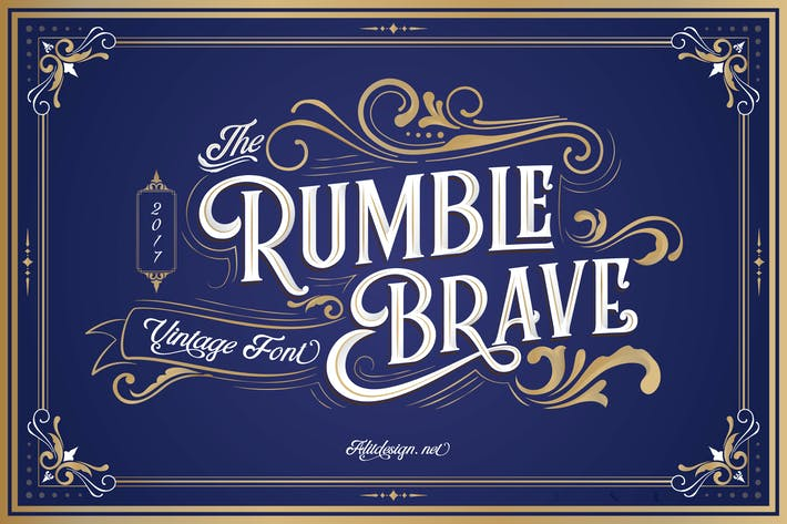 Thumbnail for Rumble Brave Vintage Fonts