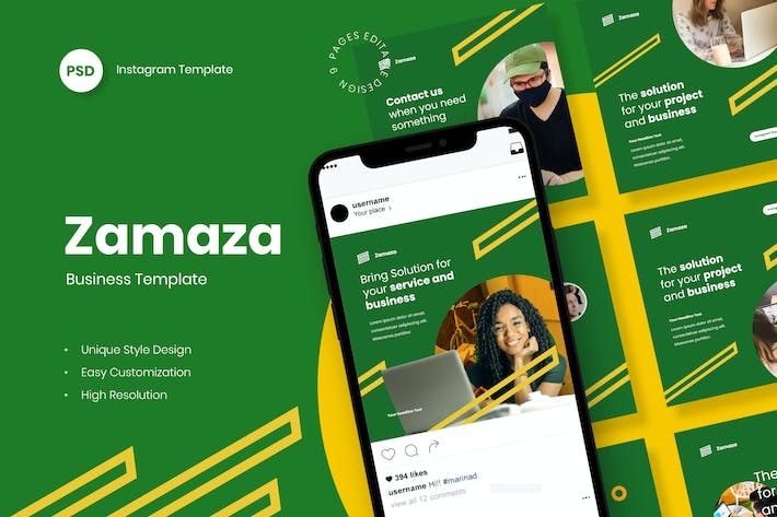 Thumbnail for Zamaza - Business Instagram Post Template
