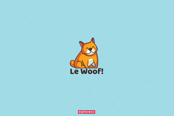 Thumbnail for Hand-Drawn Cute Dog Logo Template