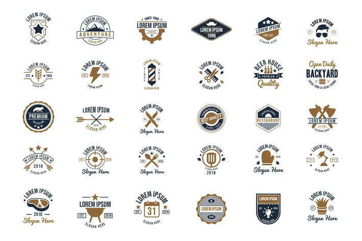 Thumbnail for 30 Vintage Logos and Badges Vol.2