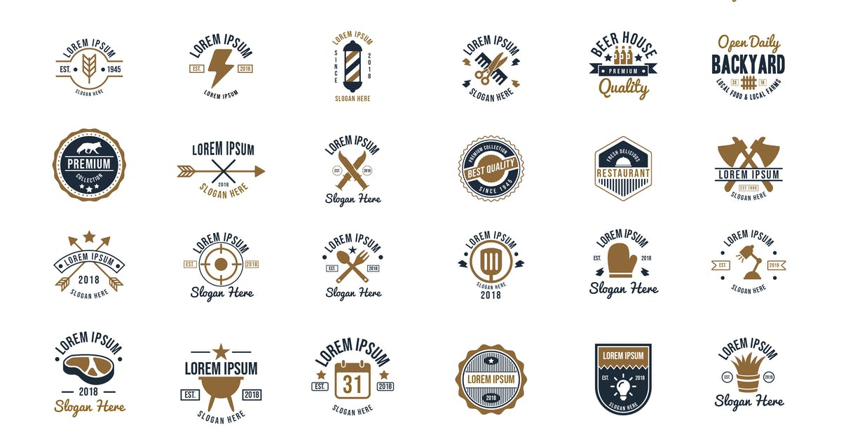 30 Vintage Logos and Badges Vol.2 by Suhandi
