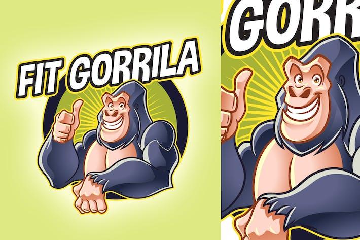 Thumbnail for Cartoon Fit Gorilla Mascot Logo
