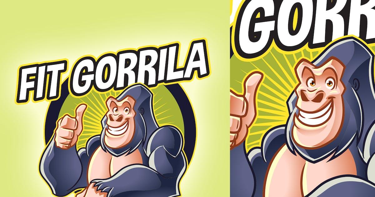 Download Cartoon Fit Gorilla Mascot Logo by Suhandi