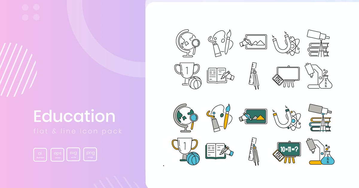 Download Education Icon Pack by vectorclans