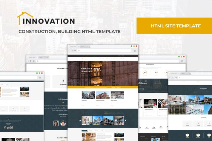 Thumbnail for Innovation - Construction, Building HTML Modèle
