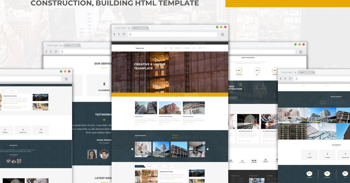 Download Innovation - Construction, Building HTML Template by CocoTemplates