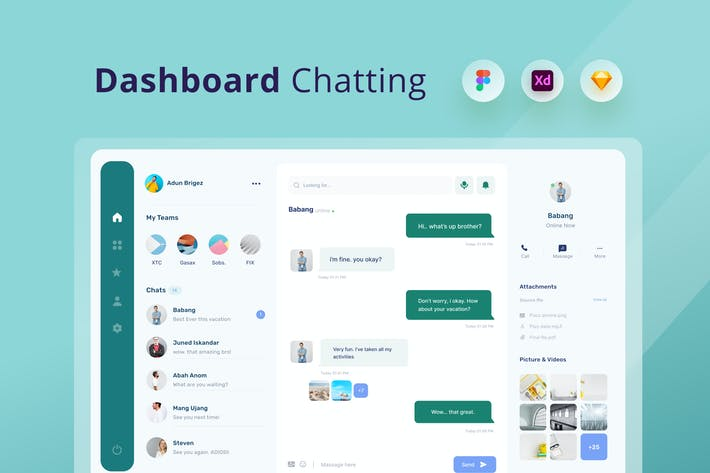 Dashboard chat