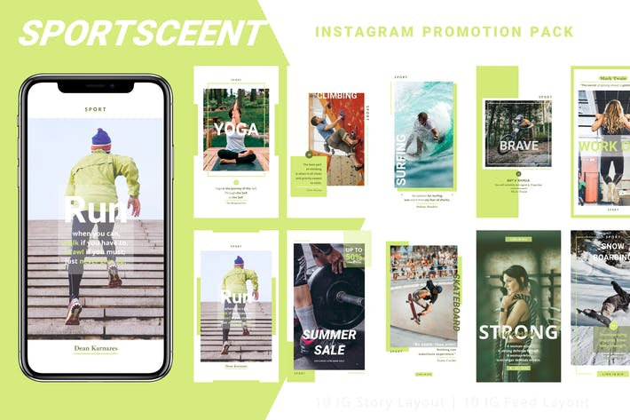 Thumbnail for Sportsceent - Instagram Story Pack