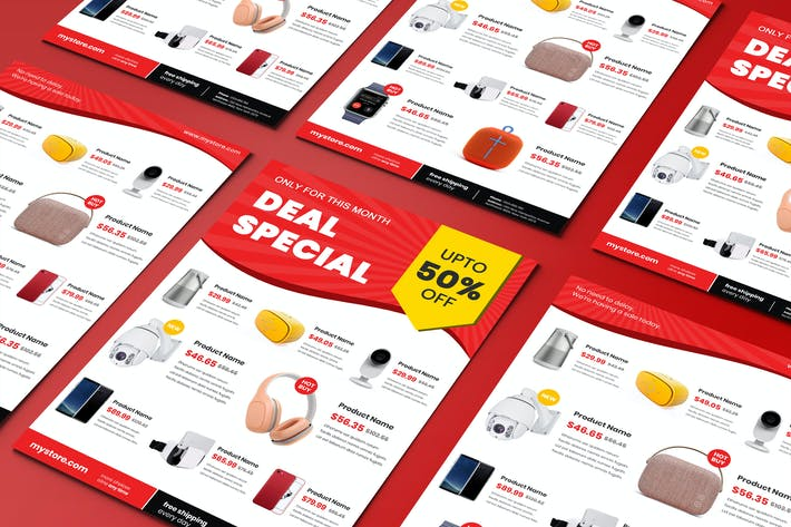 Thumbnail for Flyer Electronics Product Sale Template