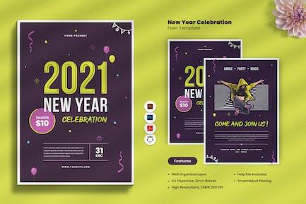 New Year Countdown Celebration 2021 Flyer