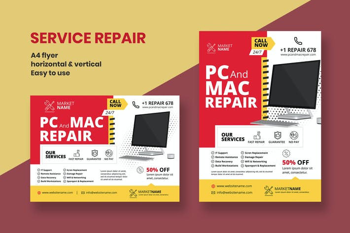 Thumbnail for Repair Service Flyer