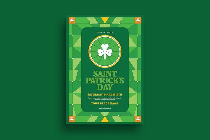 Dépliant de l'événement de Saint Patrick