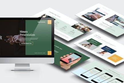 Moura : Digital Marketing Pitch Deck Google Slides