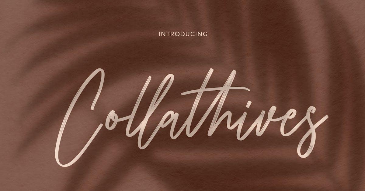 Download Collathives Signature Brush Font by maulanacreative