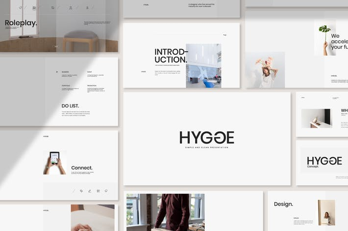 Thumbnail for Hygge - Minimal Portfolio Google Slides
