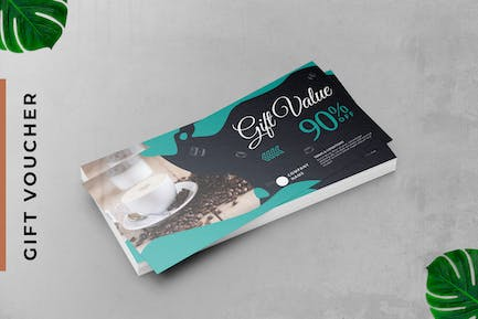 Coffee Gift Voucher Card Promotion