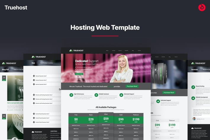 Thumbnail for Truehost - Responsive HTML5 Hosting Template