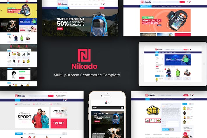Thumbnail for Nikado - Responsive Magento Theme