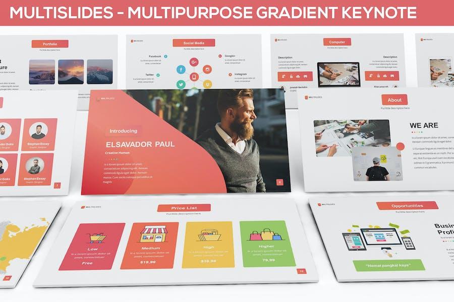 MultiSlides - Multipurpose Gradient Keynote
