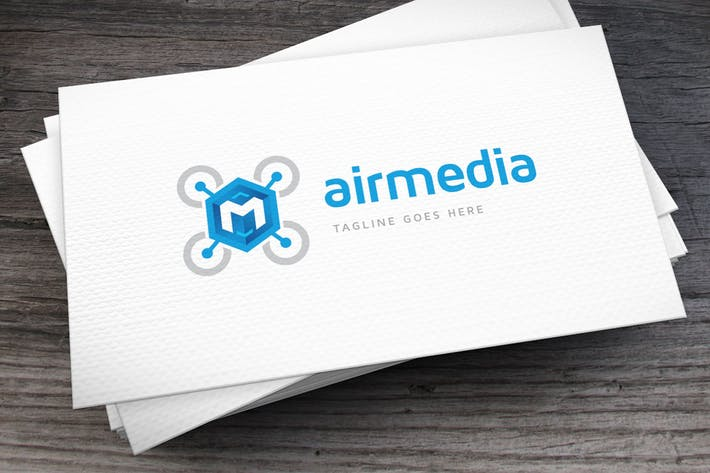 Cover Image For Airmedia Logo Letter M Template
