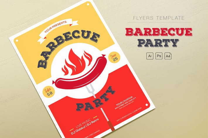 Thumbnail for Barbecue Party Flyers