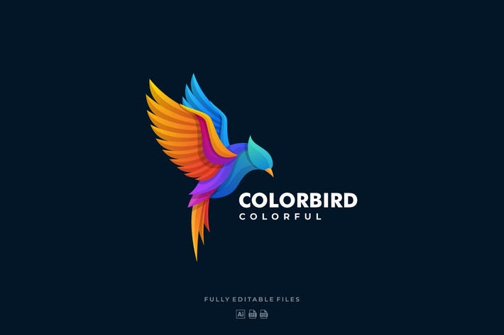 Thumbnail for Fly Bird Color Gradient Logo