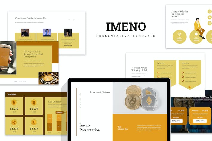 Thumbnail for Imeno : Crypto Currency Business Google Slides