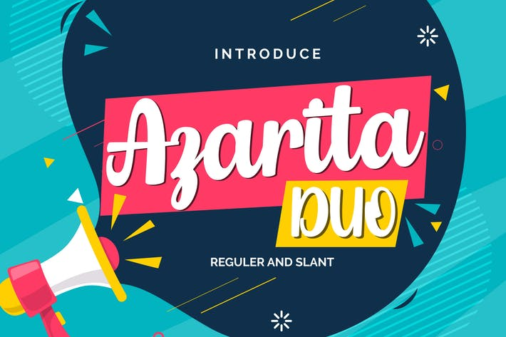 Thumbnail for Azarita Duo | Regular & Slant Font