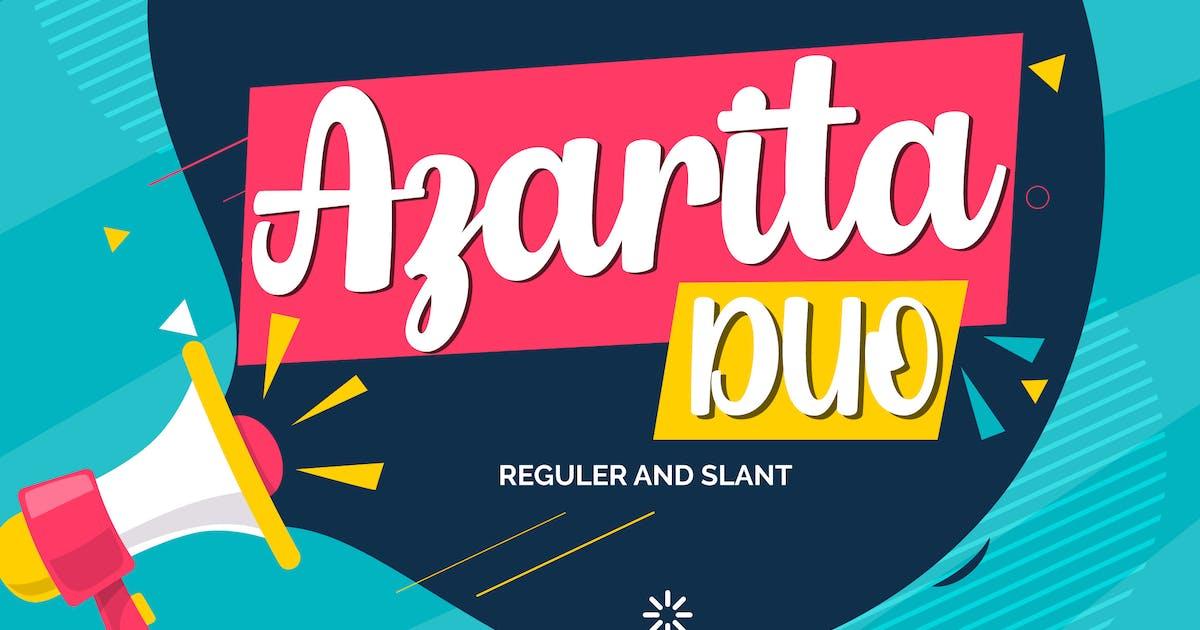 Download Azarita Duo | Regular & Slant Font by Vunira