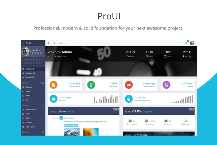 Thumbnail for ProUI - Bootstrap Admin Template