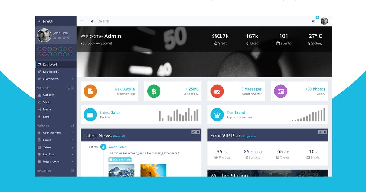 Download ProUI - Bootstrap Admin Template by pixelcave