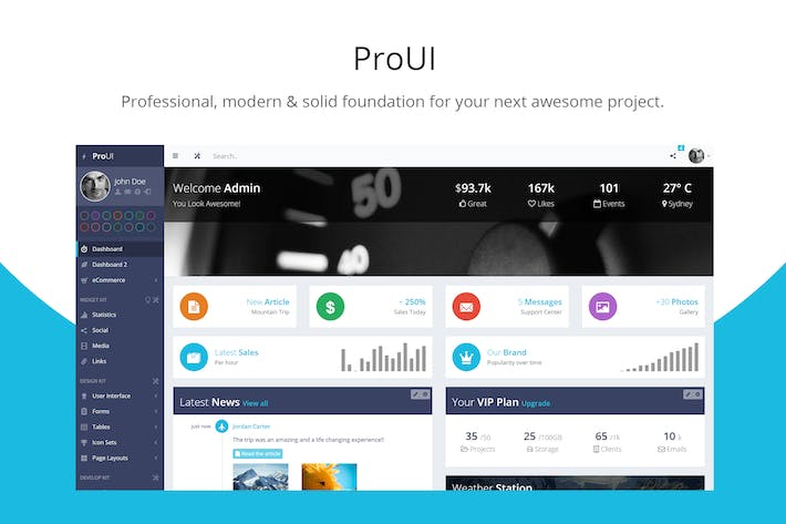 Download 10 php website templates envato elements thumbnail for proui bootstrap admin template maxwellsz