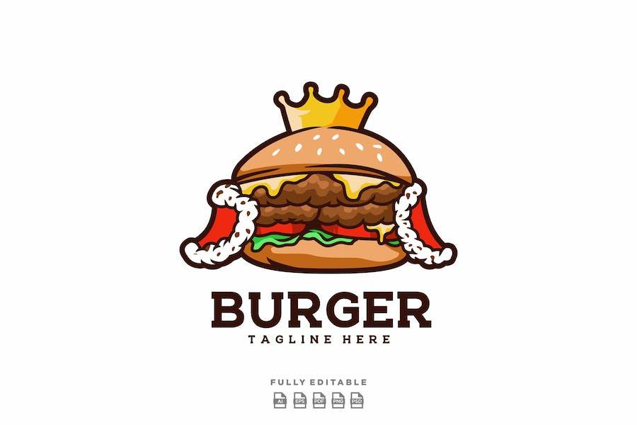 King Burger Logo Template