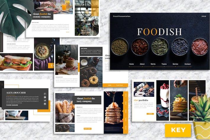 Thumbnail for Foodish – Food & Beverage Keynote Template