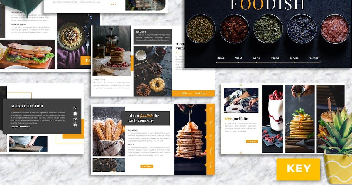 Download Foodish – Food & Beverage Keynote Template by Yumnacreative