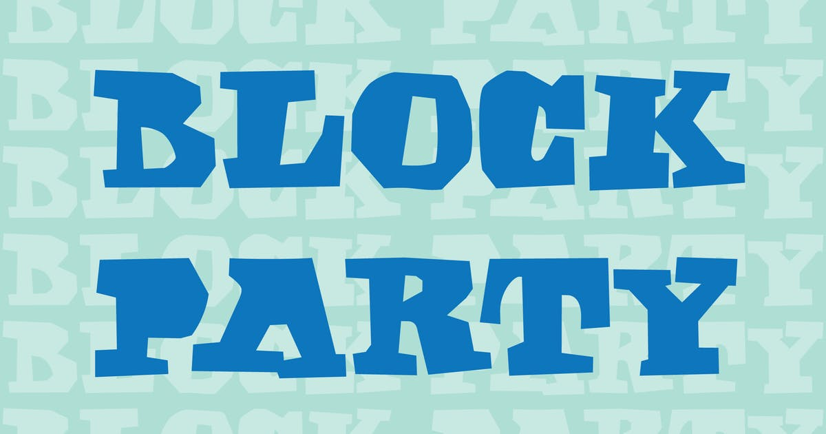Download Block Party by WalcottFonts