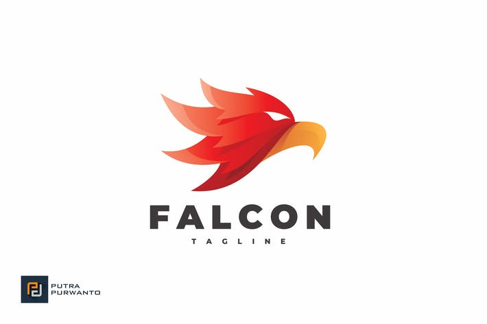 Thumbnail for Falcon Head - Logo Template