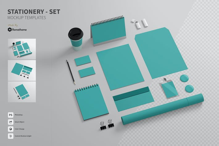 Thumbnail for Branding / Stationery - Mockups FH